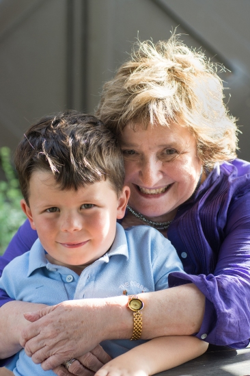 Shelagh Robinson at The Stag, Warrington, with her grandson Matty Hammersley, 6.